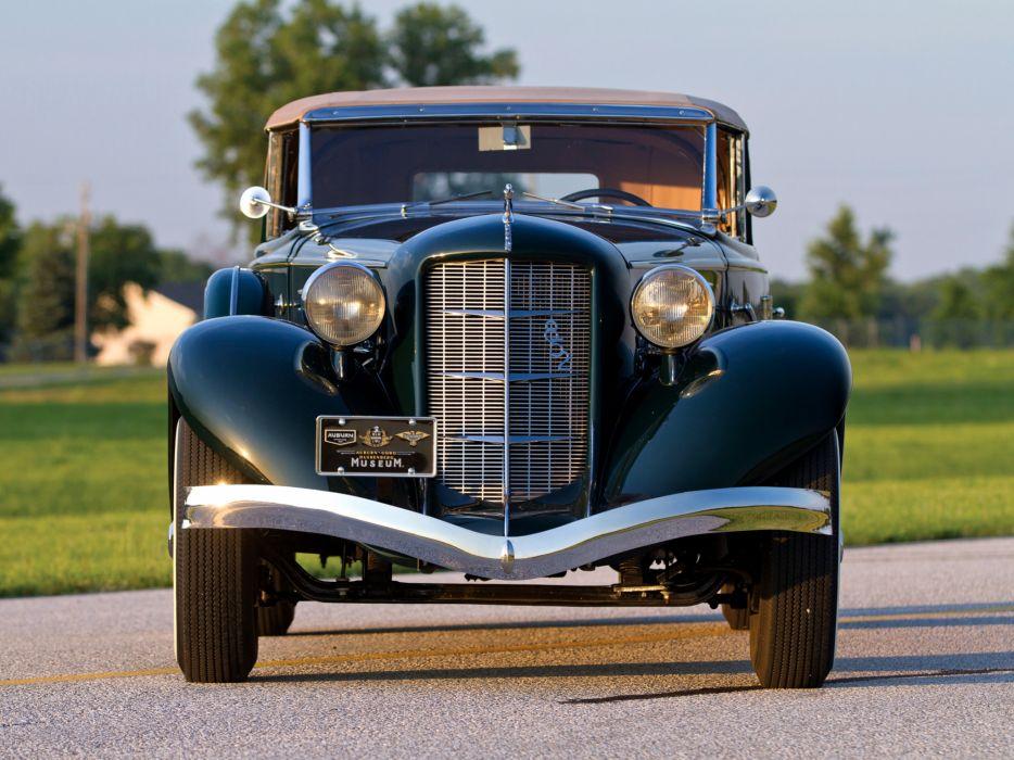 1936 Auburn 852 SC Dual Ratio Phaeton retro luxury s-c convertible    g wallpaper