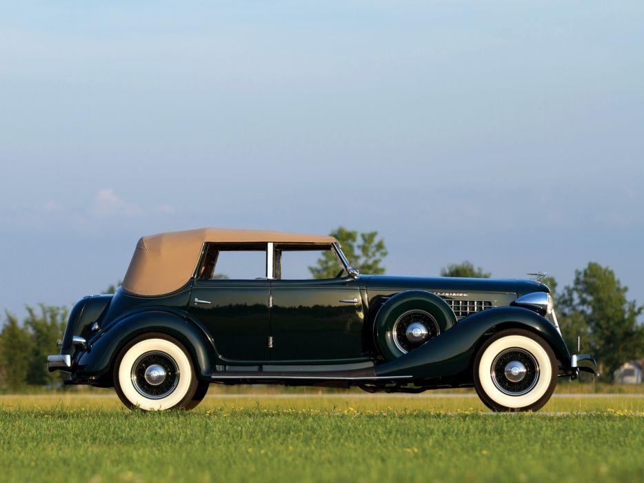1936 Auburn 852 SC Dual Ratio Phaeton retro luxury s-c convertible   h wallpaper