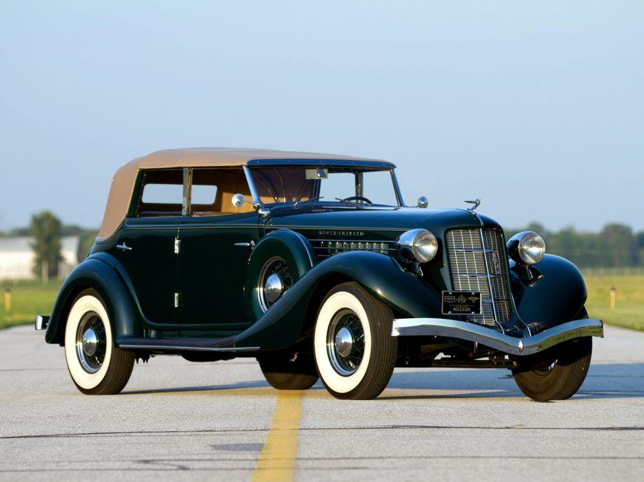 1936 Auburn 852 SC Dual Ratio Phaeton retro luxury s-c convertible wallpaper