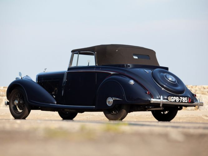 1937 Bentley Concealed Head Coupe by Mulliner convertible retro wallpaper