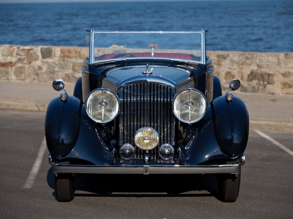 1937 Bentley Concealed Head Coupe by Mulliner convertible retro luxury  f wallpaper