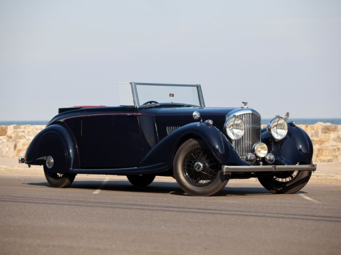 1937 Bentley Concealed Head Coupe by Mulliner convertible retro luxury d wallpaper