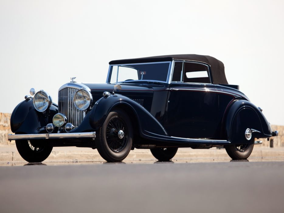 1937 Bentley Concealed Head Coupe by Mulliner convertible retro luxury wallpaper