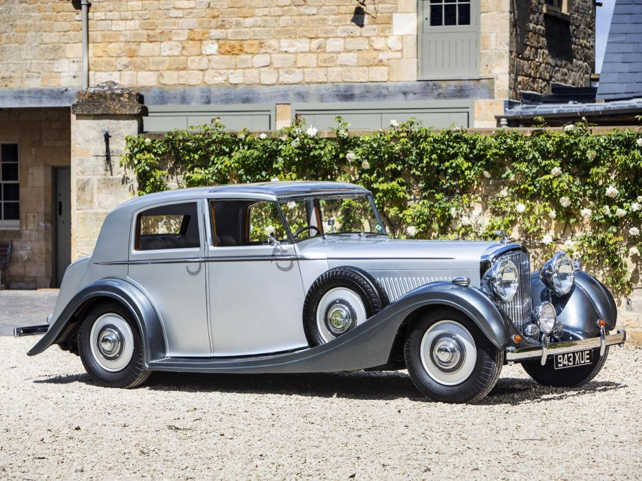 1938 Bentley Sports Saloon by Mulliner luxury retro  g wallpaper