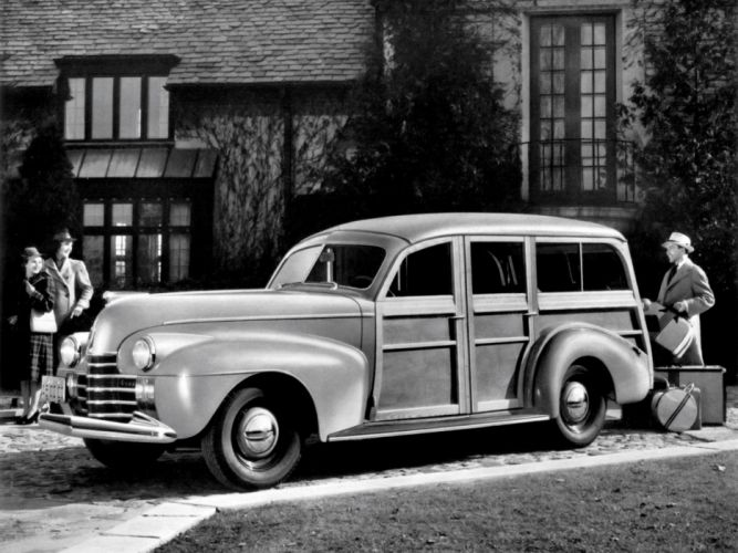 1940 Oldsmobile Deluxe StationWagon (3565) retro wallpaper