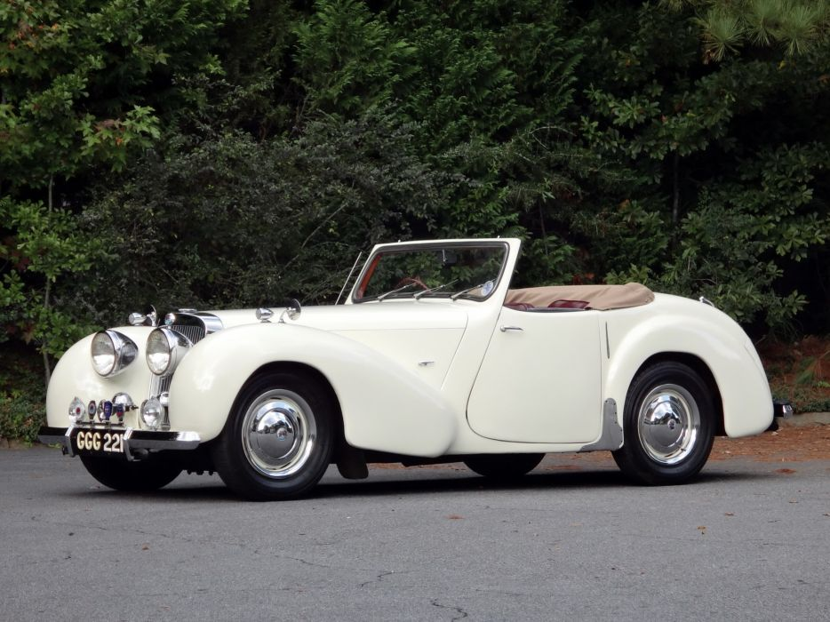 1948 Triumph 2000 Roadster retro sportscar convertible f wallpaper