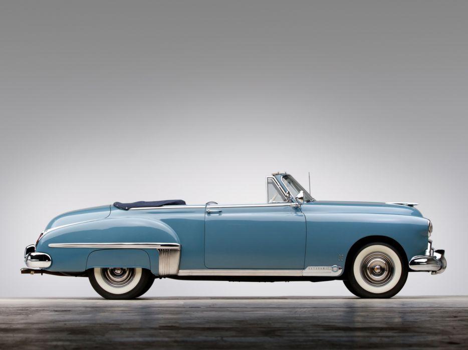 1949 Oldsmobile Futuramic 88 Convertible retro 8-8 luxury interior      h wallpaper