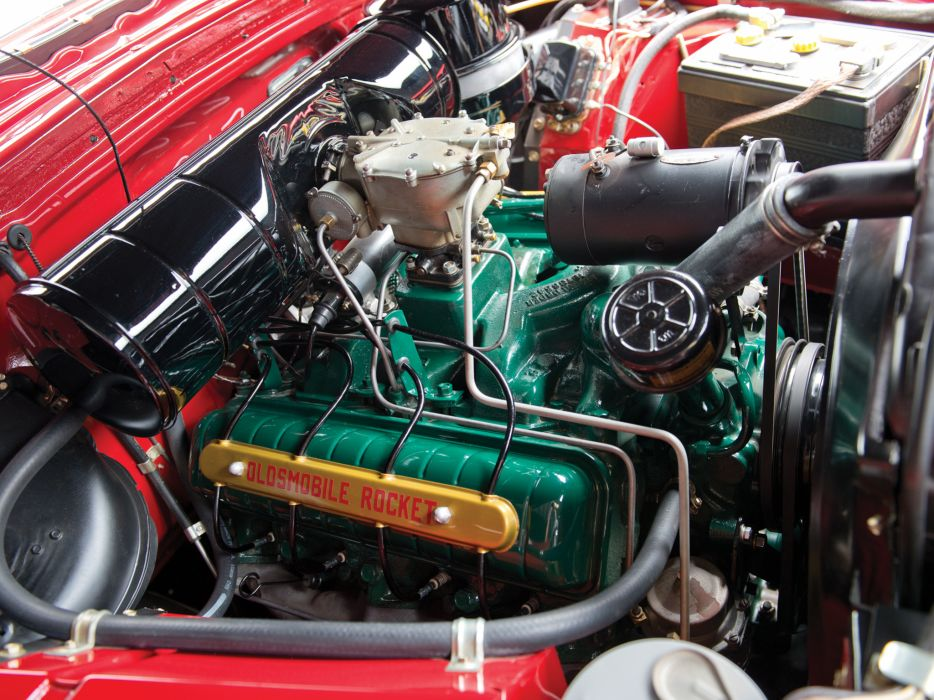 1950 Oldsmobile Futuramic 88 Convertible (3767DY) retro 8-8 engine   g wallpaper