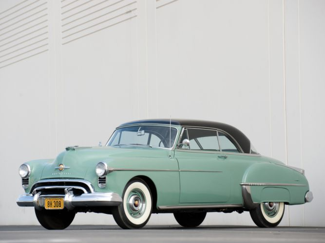 1950 Oldsmobile Futuramic 88 Holiday Coupe (3737) retro 8-8 h wallpaper