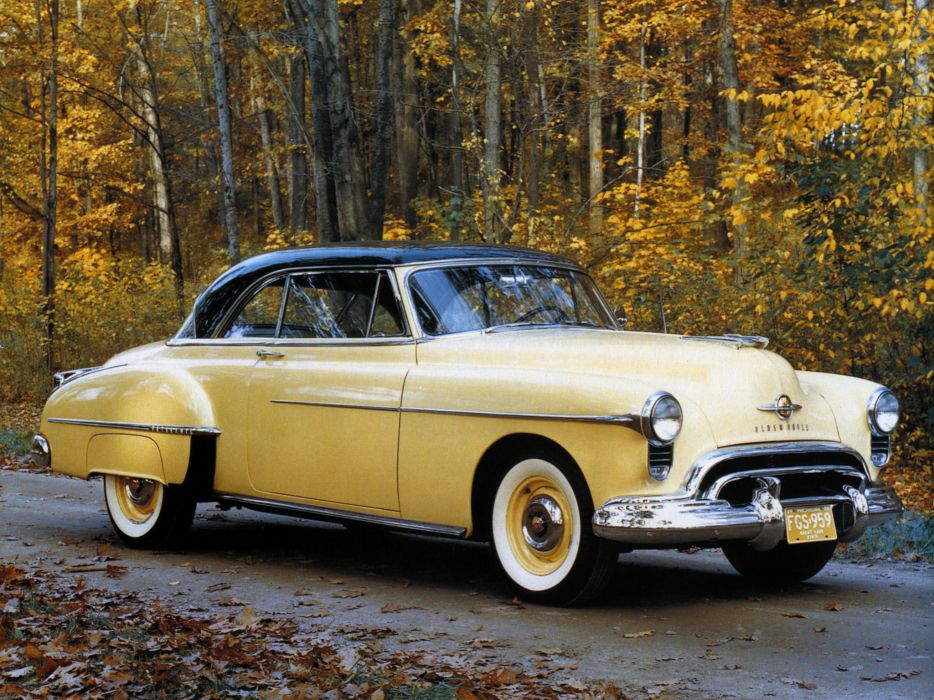 1950 Oldsmobile Futuramic 88 Holiday Coupe (3737) retro 8-8 wallpaper