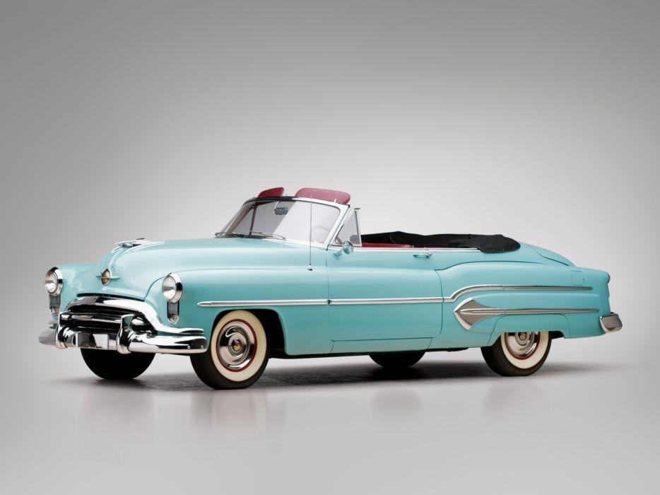 1951 Oldsmobile 98 Convertible retro 9-8   g wallpaper