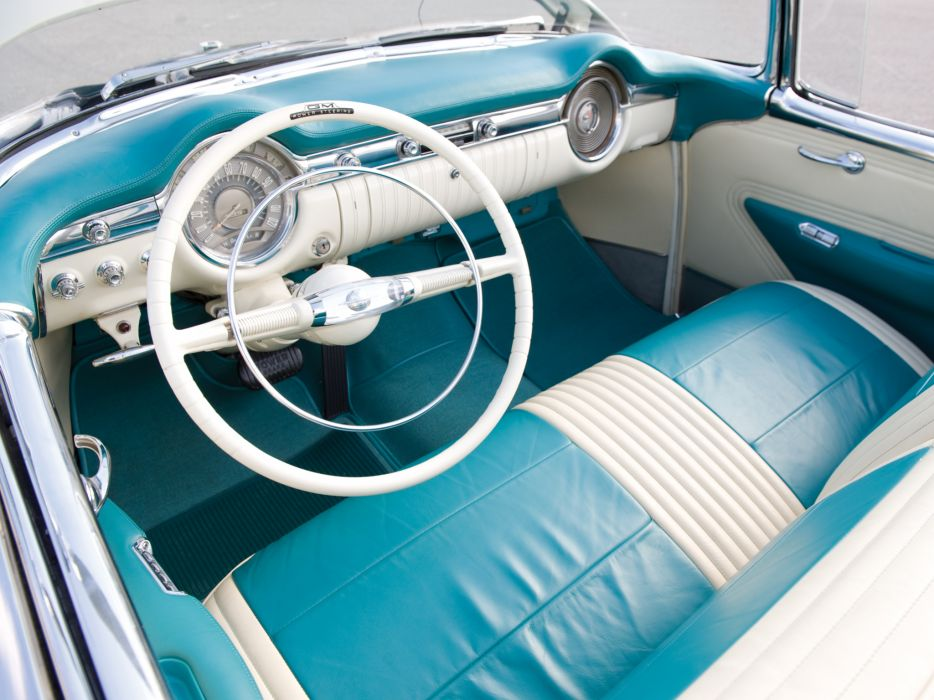 1953 Oldsmobile 98 Fiesta Convertible (3067SDX) retro 9-8 interior     g wallpaper
