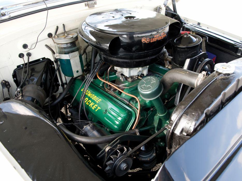 1953 Oldsmobile 98 Fiesta Convertible (3067SDX) retro 9-8 engine    h wallpaper