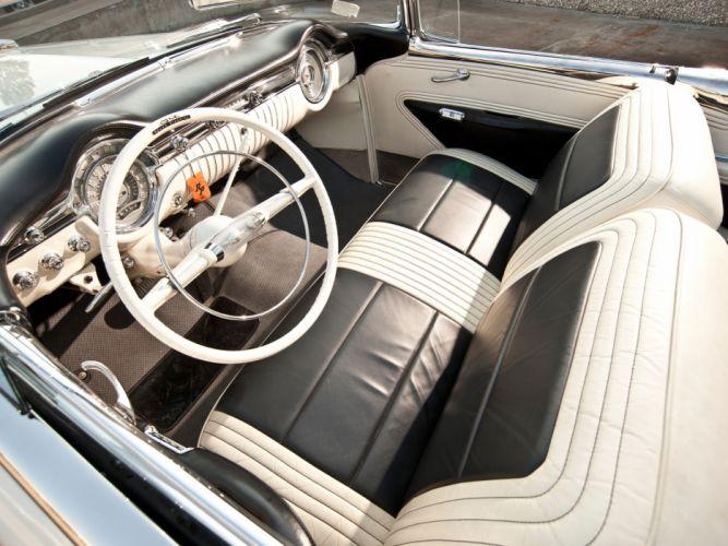 1953 Oldsmobile 98 Fiesta Convertible (3067SDX) retro 9-8 interior h wallpaper