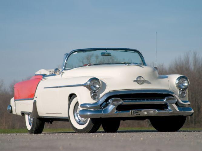 1953 Oldsmobile 98 Fiesta Convertible (3067SDX) retro 9-8 luxury g wallpaper