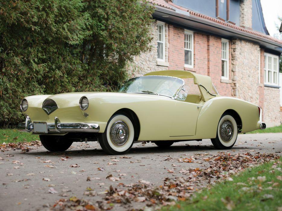 1954 Kaiser Darrin Convertible retro luxury  t wallpaper