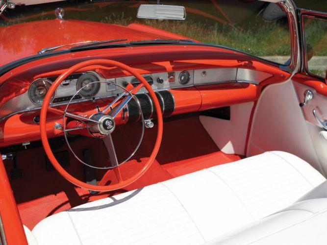 1955 Buick Century Convertible (66C) retro interior g wallpaper