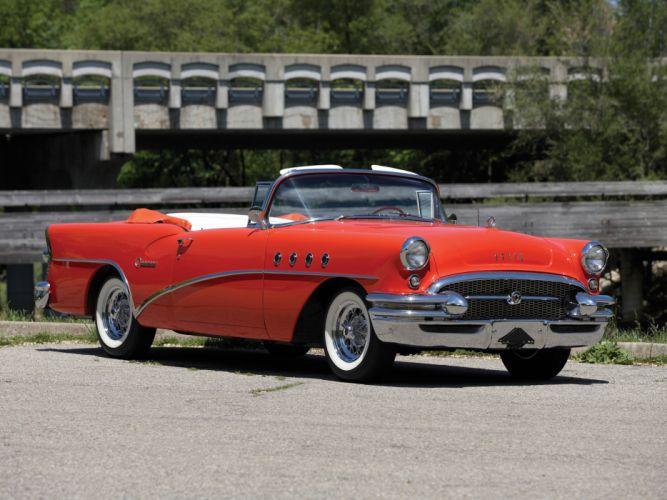 1955 Buick Century Convertible (66C) retro f wallpaper