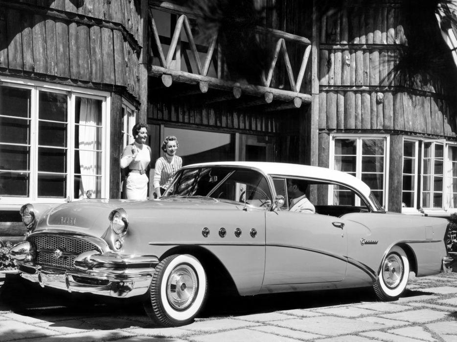 1955 Buick Century Riviera Hardtop Coupe (4637) retro wallpaper