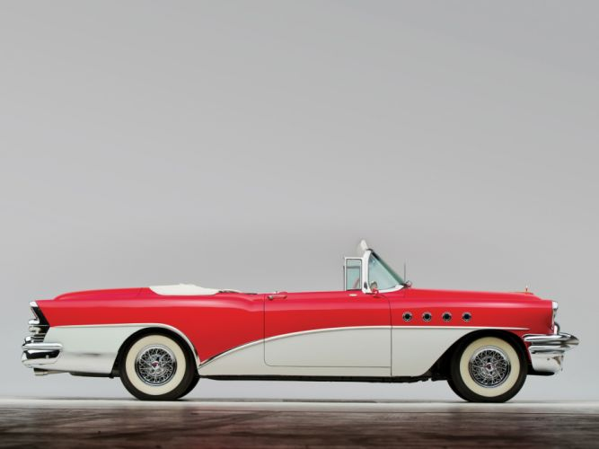 1955 Buick Roadmaster Convertible retro luxury f wallpaper