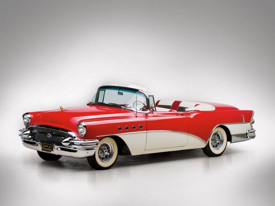 1955 Buick Roadmaster Convertible retro luxury wallpaper