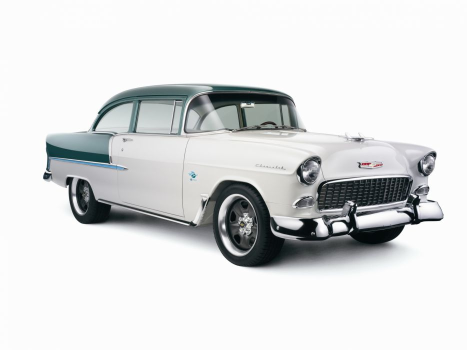 1955 Chevrolet Bel Air coupe retro muscle hot rod rods   g wallpaper