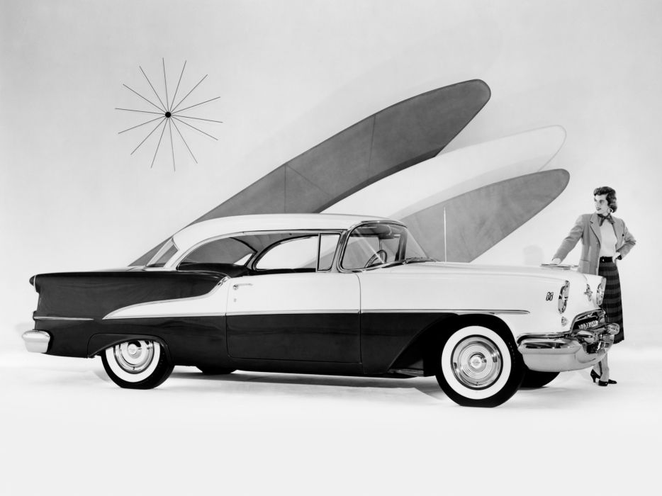 1955 Oldsmobile 88 Holiday Coupe (3637) retro 8-8 wallpaper