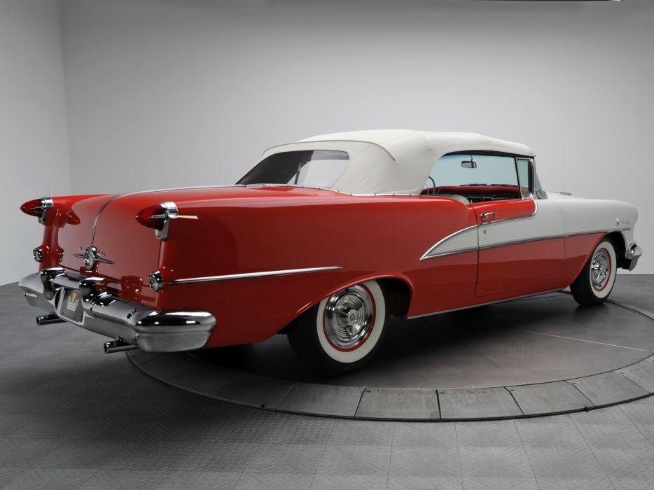 1955 Oldsmobile 98 Starfire Convertible (3067DX) luxury retro 9-8   k wallpaper
