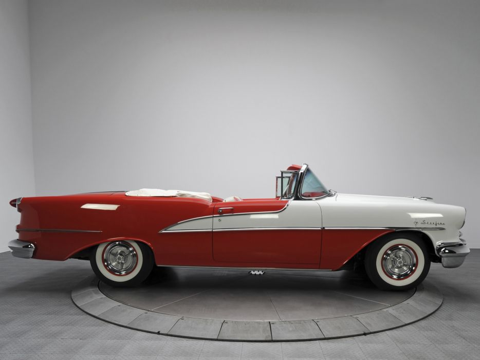 1955 Oldsmobile 98 Starfire Convertible (3067DX) luxury retro 9-8  kg wallpaper