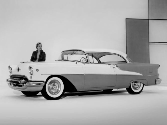 1955 Oldsmobile Super 88 Holiday Coupe (3637D) retro luxury 8-8 wallpaper