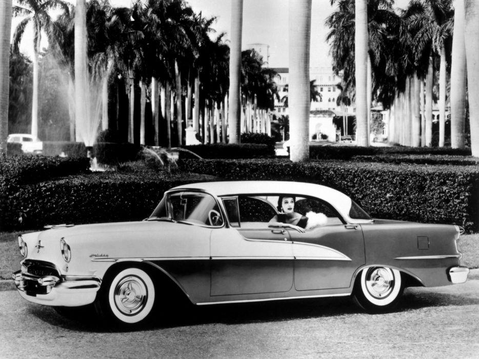 1955 Oldsmobile Super 88 Holiday Sedan (3639SD) retro 8-8 wallpaper
