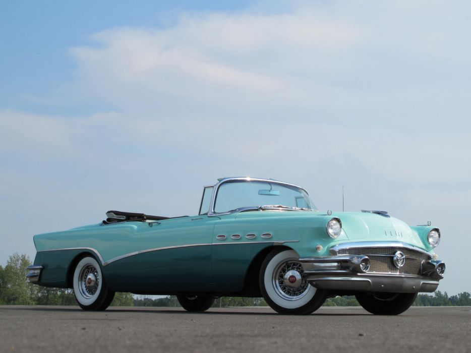 1956 Buick Roadmaster Convertible retro wallpaper