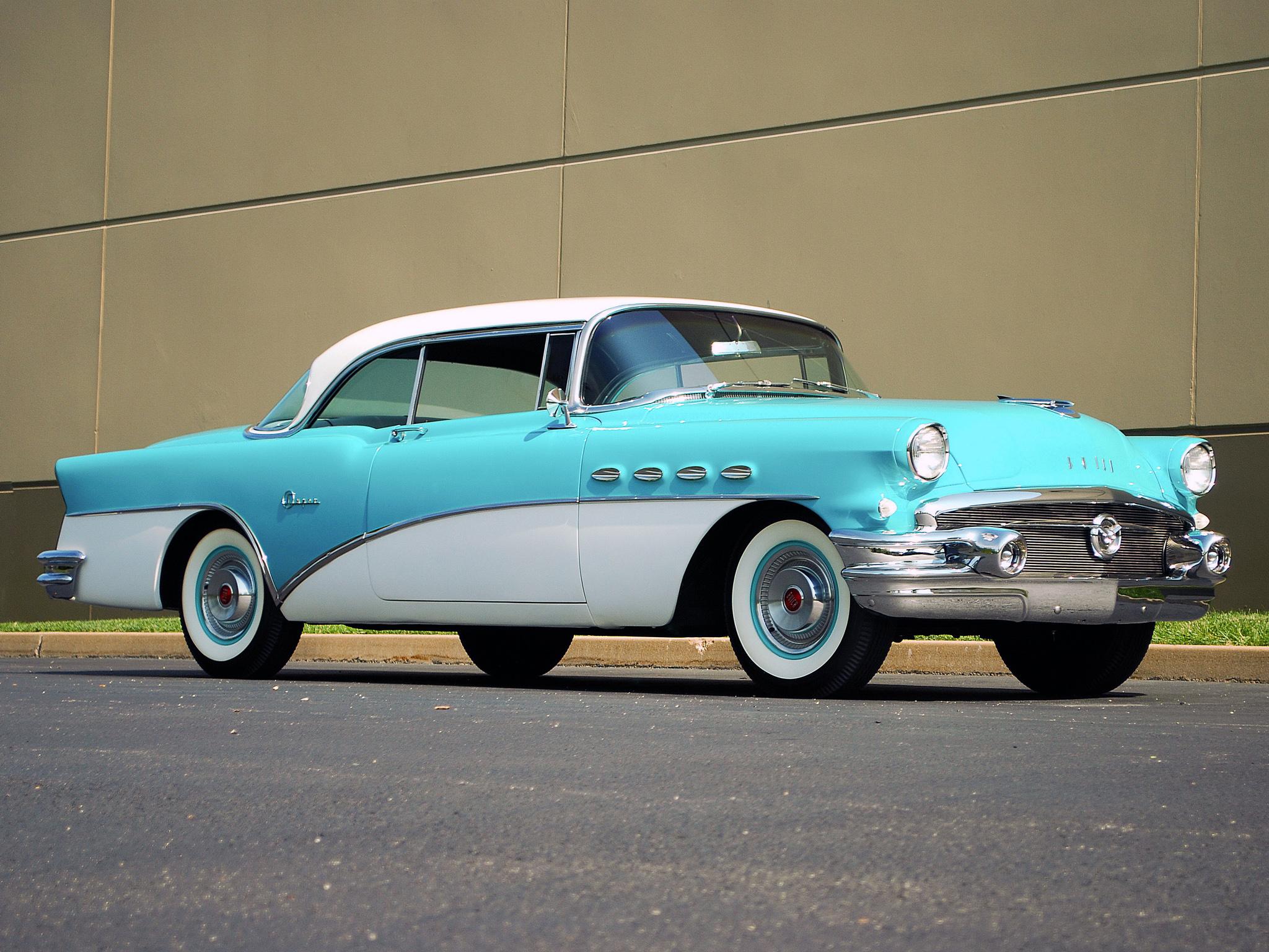 1956 Buick Super Riviera Hardtop Coupe Retro Wallpaper