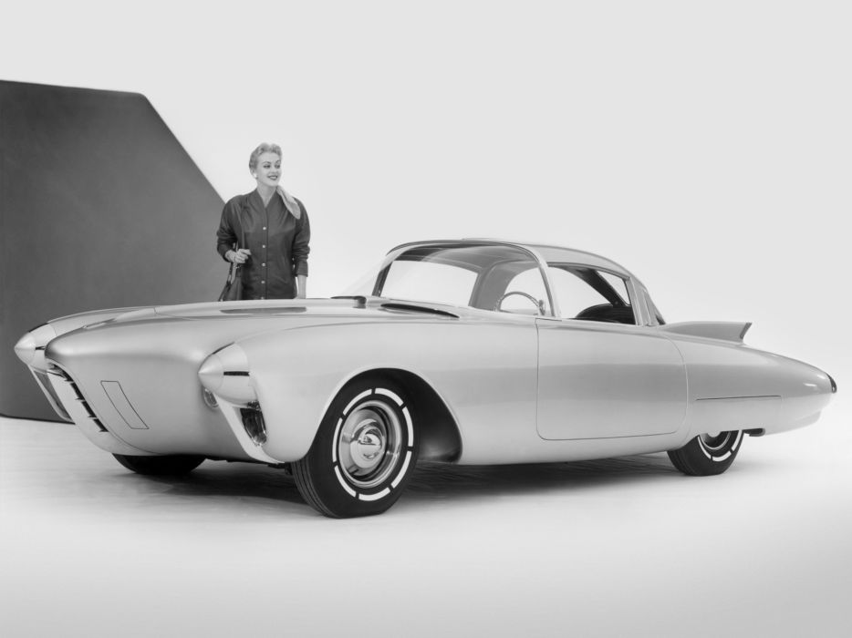1956 Oldsmobile Golden Rocket Concept supercar retro   d wallpaper