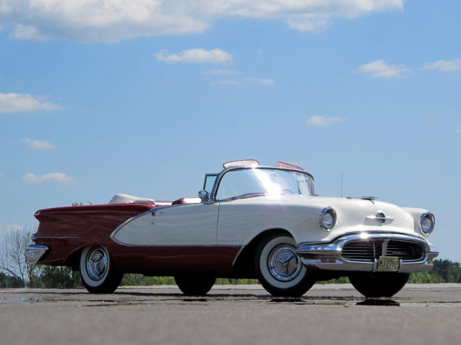 1956 Oldsmobile Starfire 98 Convertible retro 9-8 wallpaper