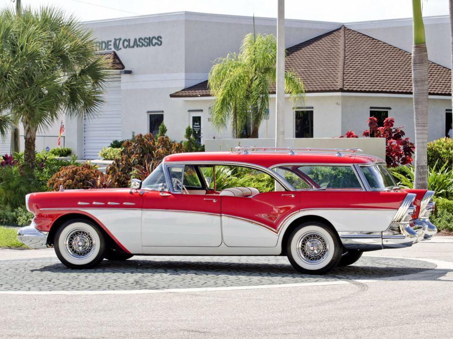1957 Buick Century Caballero StationWagon retro   h wallpaper