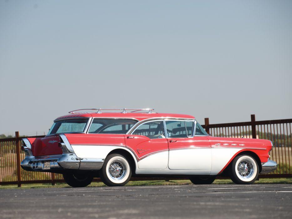 1957 Buick Century Caballero StationWagon retro  hd wallpaper