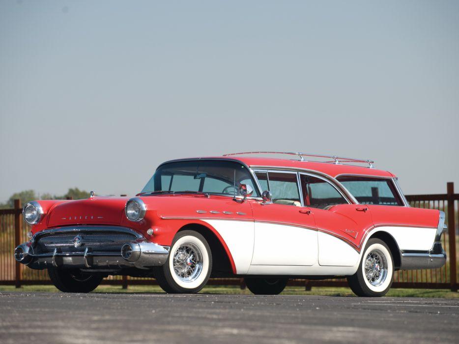 1957 Buick Century Caballero StationWagon retro   g wallpaper