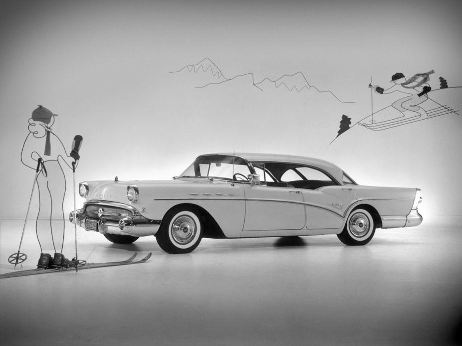 1957 Buick Century Riviera Hardtop Sedan retro wallpaper