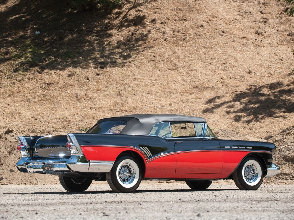 1957 Buick Roadmaster Convertible (76C) retro   g wallpaper