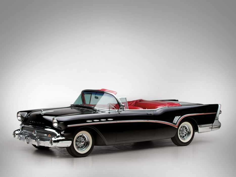 1957 Buick Roadmaster Convertible (76C) retro  f wallpaper