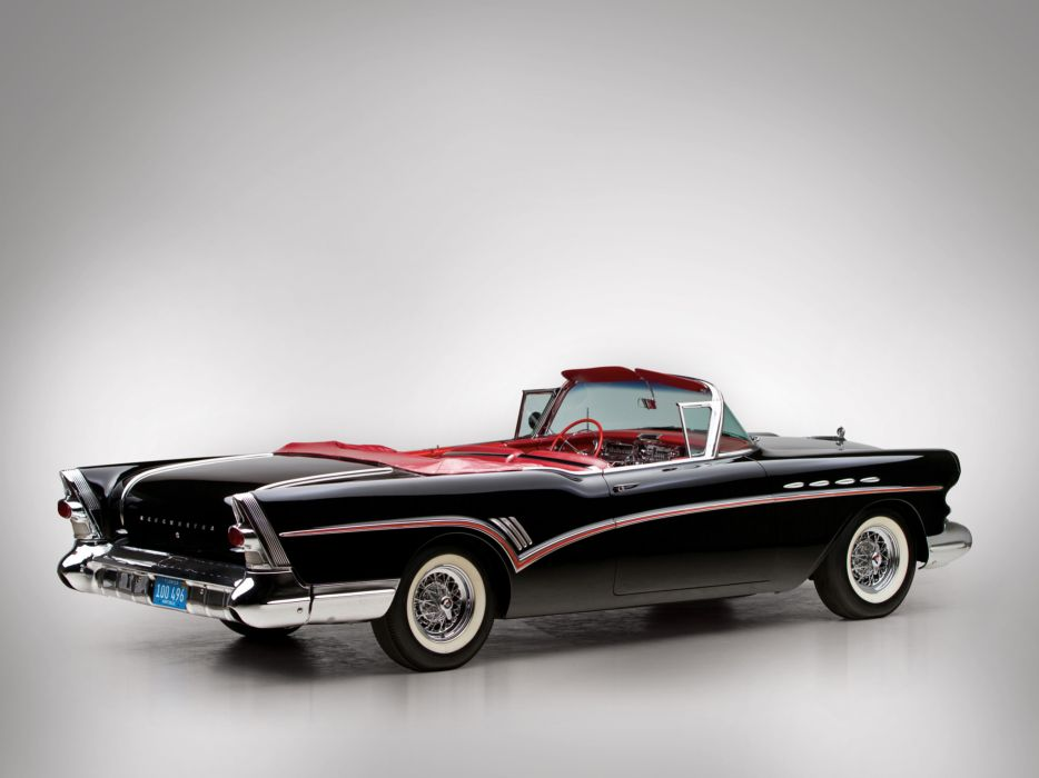 1957 Buick Roadmaster Convertible (76C) retro luxury wallpaper