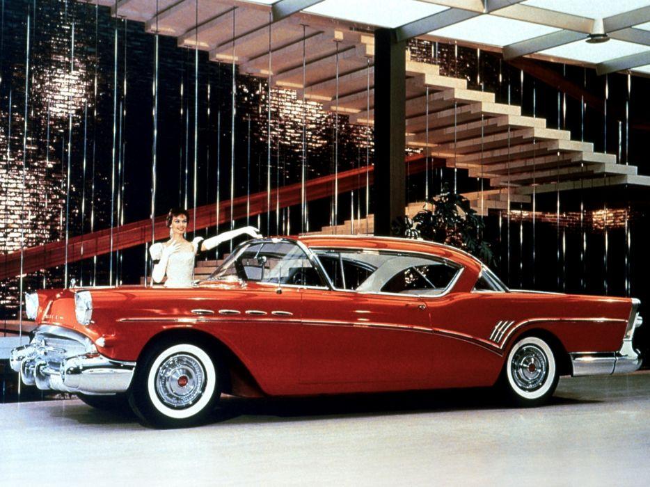 1957 Buick Roadmaster Riviera Hardtop Coupe (76R) retro luxury wallpaper