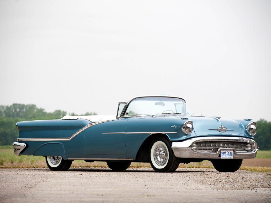 1957 Oldsmobile 98 Convertible luxury retro 9-8 wallpaper