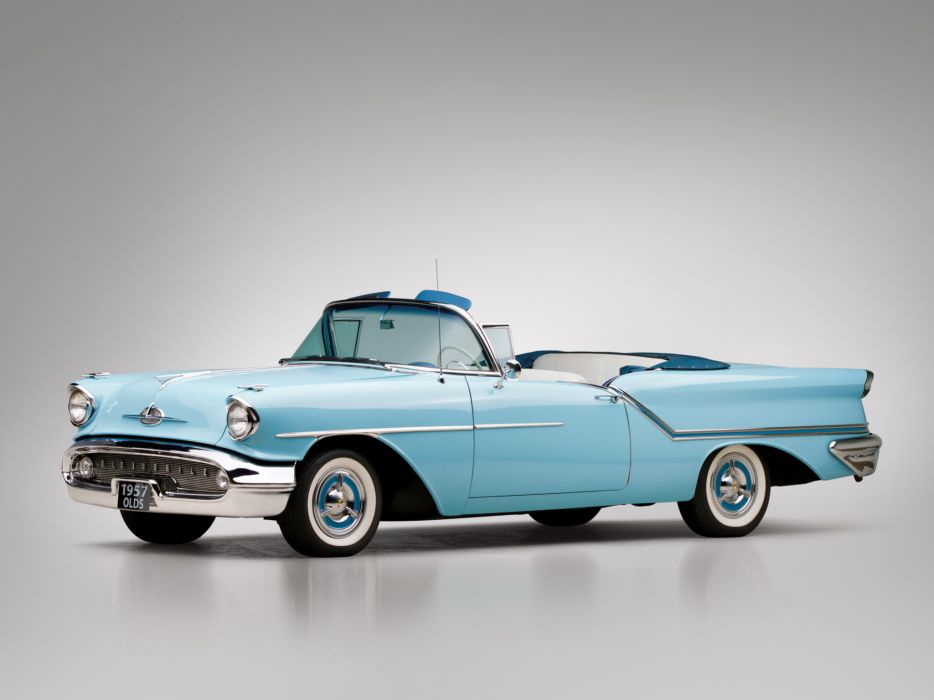 1957 Oldsmobile Golden Rocket 88 J-2 Convertible retro 8-8 wallpaper