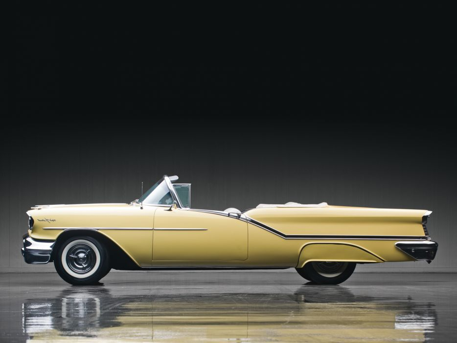 1957 Oldsmobile Starfire 98 Convertible (3067DX) retro 9-8   h wallpaper