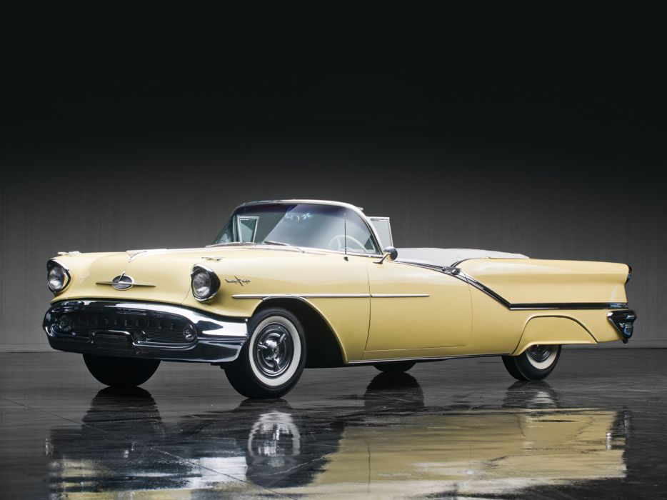 1957 Oldsmobile Starfire 98 Convertible (3067DX) retro 9-8 wallpaper