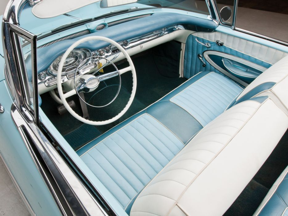 1957 Oldsmobile Super 88 Convertible (3667DTX) retro 8-8 interior  h wallpaper