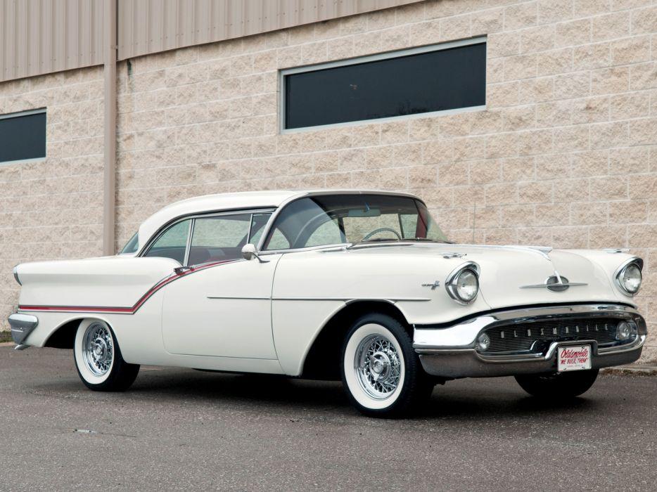 1957 Oldsmobile Super 88 Holiday Coupe (3637SD) retro 8-8   f wallpaper