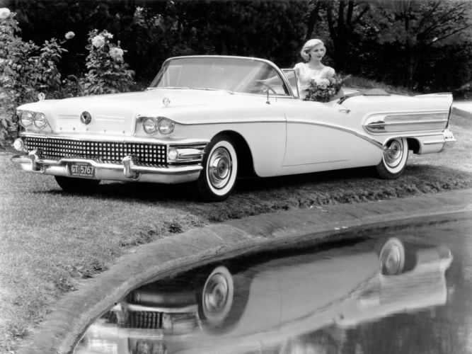 1958 Buick Century Convertible retro luxury wallpaper